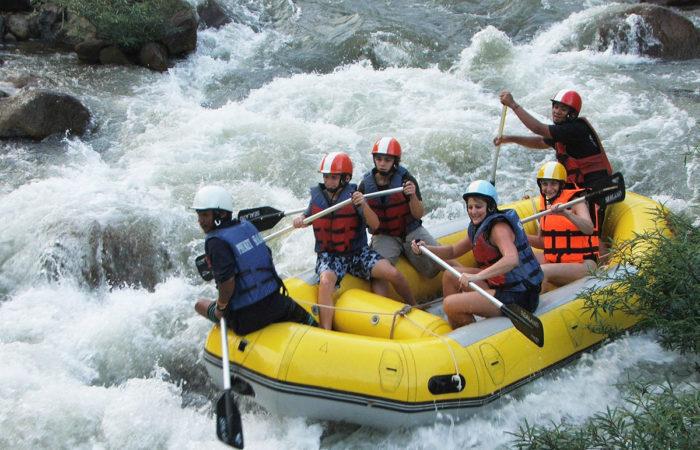 White water rafting tour, Phang Nga