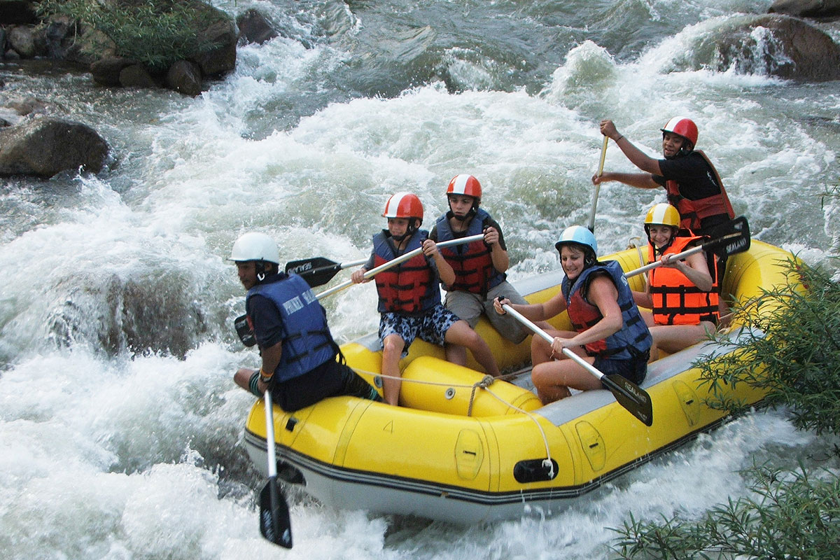 White water rafting tour, Phang Nga